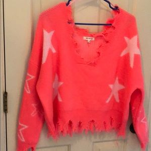 Pink sweater for spring.Pic in orange it's a s/m.